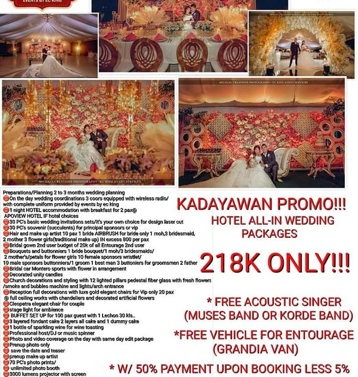 ALL IN WEDDING HOTEL PROMO PACKAGE IN CELEBRATION OF KADAYAWAN SA DAVAO EVENTS B...