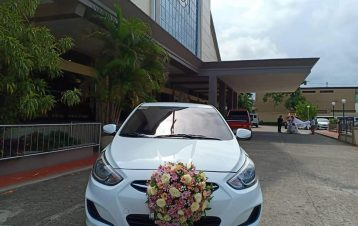 Morning and afternoon bridal car Hyundai accent today!! Thanks mam Tiffany tañar...