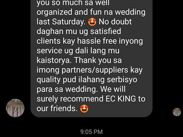 MOLINA AND PEDIANGCO WEDDING LAST FEB 22 ,2020 AT EDEN RIDGE !ANOTHER SATISFIED ...