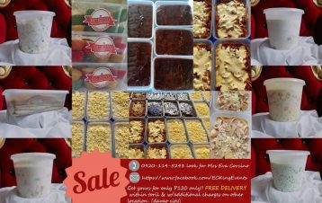 BUY 3 DESSERT AND PASTA  TAKE 1 DESSERT AND PASTA MIX 3 PICK 1 @360 PESOS O...