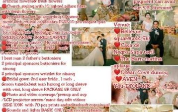 INTIMATE WEDDING PROMO EXTENDED PROMO UNTIL OCTOBER !!!99K  VENUE INCLUDED  FOR ...