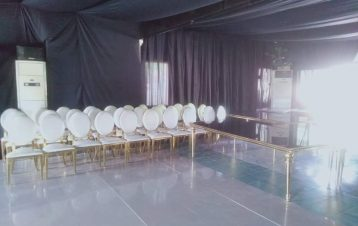 Vip glass tables and chairs available for rent!