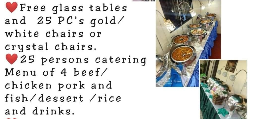 Venue rendezvous events venue  and food catering packages for 25 persons at 25K ...